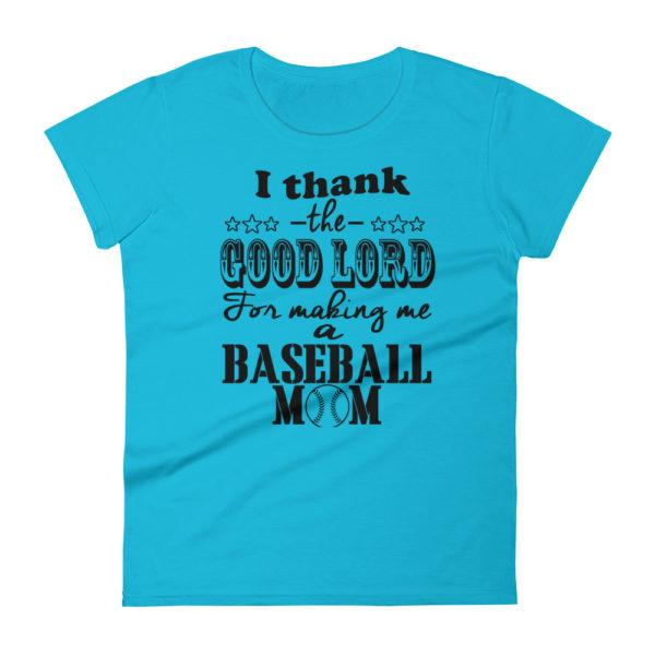 Baseball Mom Premium Woman's Fashion Fit T-shirt