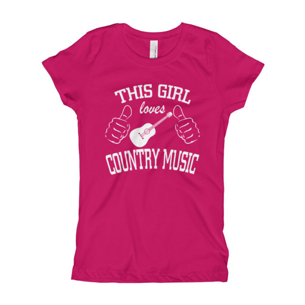 Country Music Girl's Slim Fit T-Shirt