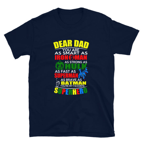Dad's Superhero T-Shirt for Wonderful Fathers!