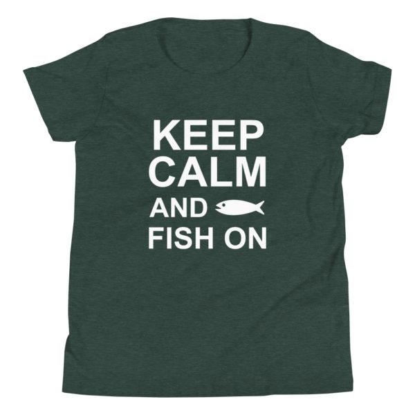 Keep Calm Fishing Kid's/Youth Premium T-Shirt