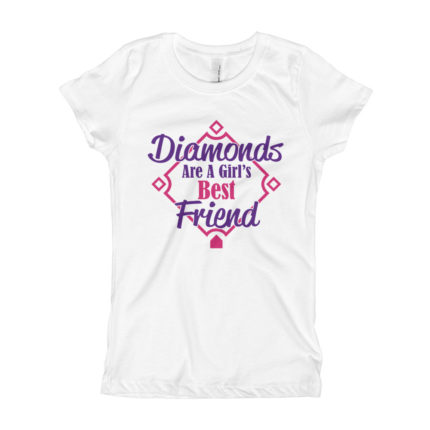 Kids Baseball Girl's Slim Fit T-Shirt