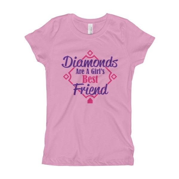 Kids Baseball Girl's Slim Fit T-Shirt