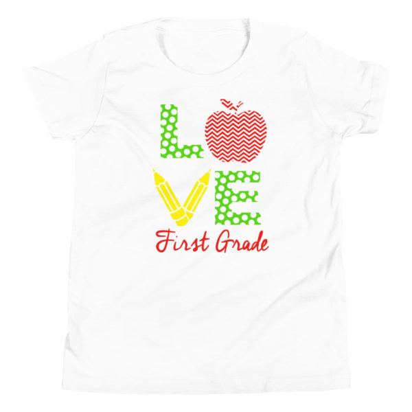 Love First Grade Premium T-Shirt for Grade 1