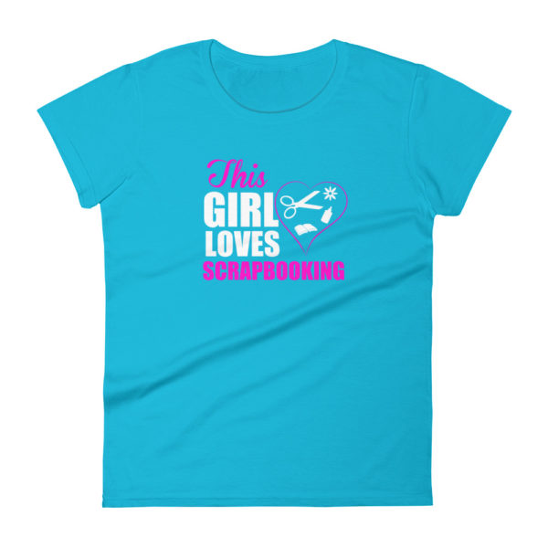 Scrapbooking Women's Fashion Fit T-shirt
