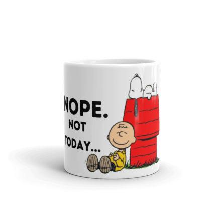 Snoopy Nope Not Today Glossy Birthday Gift Mug